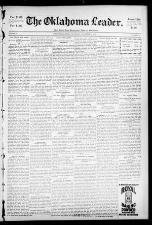 Primary view of The Oklahoma Leader. (Guthrie, Okla.), Vol. 11, No. 43, Ed. 1 Thursday, November 24, 1904