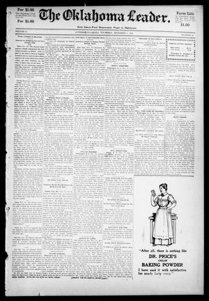 Primary view of object titled 'The Oklahoma Leader. (Guthrie, Okla.), Vol. 11, No. 44, Ed. 1 Thursday, December 1, 1904'.