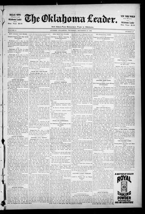 Primary view of object titled 'The Oklahoma Leader. (Guthrie, Okla.), Vol. 11, No. 47, Ed. 1 Thursday, December 22, 1904'.