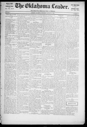 Primary view of object titled 'The Oklahoma Leader. (Guthrie, Okla.), Vol. 11, No. 51, Ed. 1 Thursday, January 19, 1905'.