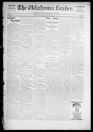 Primary view of object titled 'The Oklahoma Leader. (Guthrie, Okla.), Vol. 12, No. 1, Ed. 1 Thursday, February 2, 1905'.