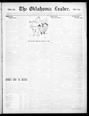 Primary view of object titled 'The Oklahoma Leader. (Guthrie, Okla.), Vol. 17, No. 3, Ed. 1 Thursday, October 15, 1908'.