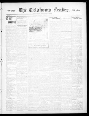 Primary view of object titled 'The Oklahoma Leader. (Guthrie, Okla.), Vol. 17, No. 7, Ed. 1 Thursday, November 12, 1908'.