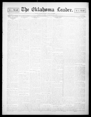 Primary view of object titled 'The Oklahoma Leader. (Guthrie, Okla.), Vol. 17, No. 22, Ed. 1 Thursday, March 4, 1909'.