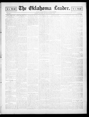 Primary view of object titled 'The Oklahoma Leader. (Guthrie, Okla.), Vol. 17, No. 25, Ed. 1 Thursday, March 25, 1909'.