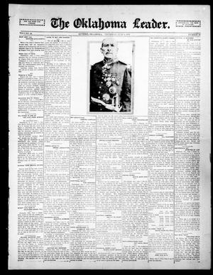 Primary view of object titled 'The Oklahoma Leader. (Guthrie, Okla.), Vol. 24, No. 20, Ed. 1 Thursday, June 4, 1914'.