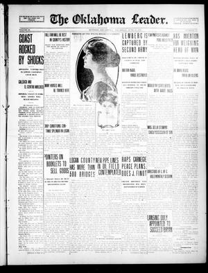 Primary view of object titled 'The Oklahoma Leader. (Guthrie, Okla.), Vol. 25, No. 27, Ed. 1 Thursday, June 24, 1915'.
