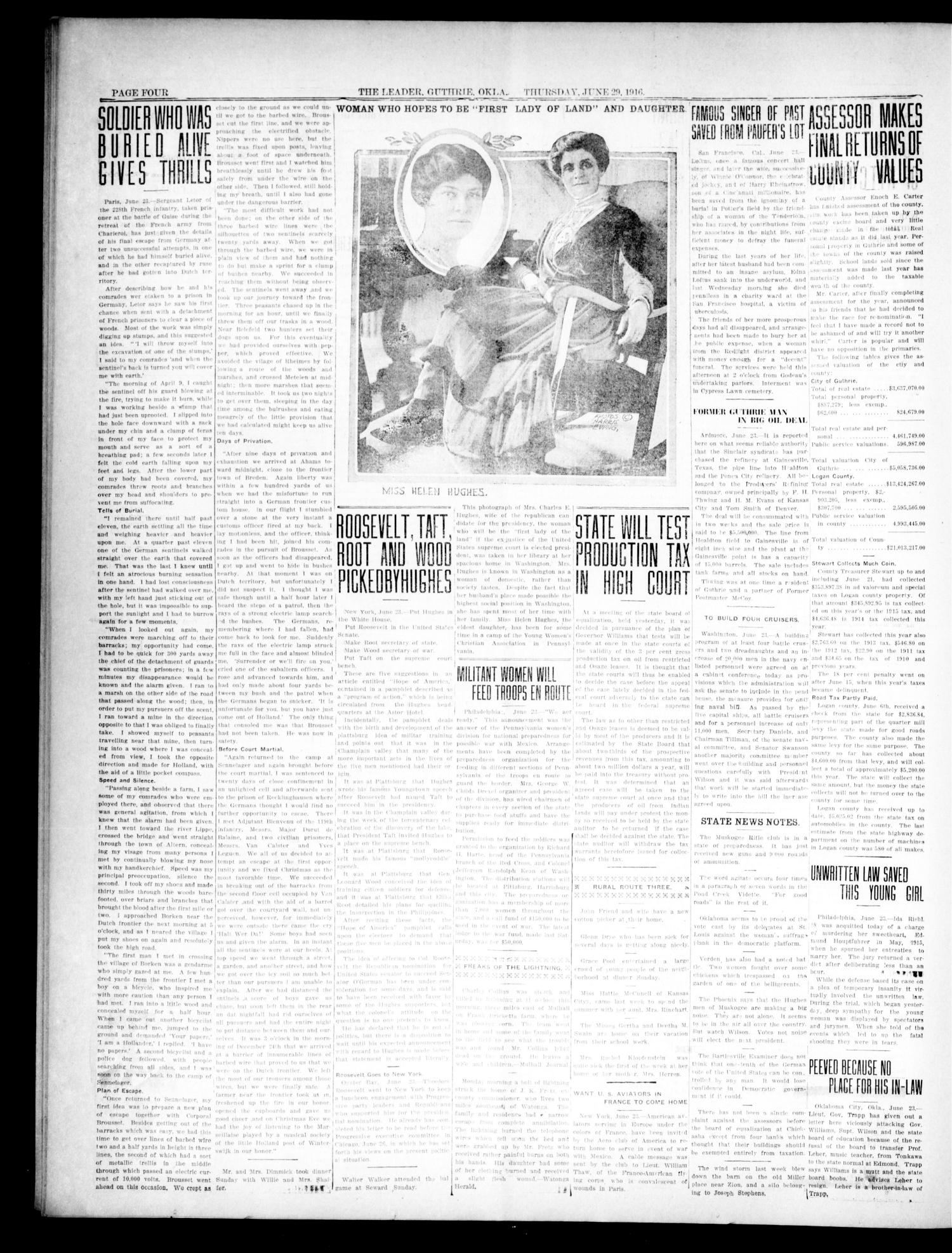 The Oklahoma Leader. (Guthrie, Okla.), Vol. 26, No. 27, Ed. 1 Thursday, June 29, 1916                                                                                                      [Sequence #]: 4 of 8