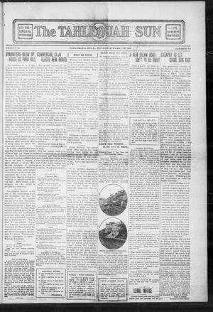 Primary view of object titled 'The Tahlequah Sun (Tahlequah, Okla.), Vol. 3, No. 50, Ed. 1 Monday, January 15, 1912'.