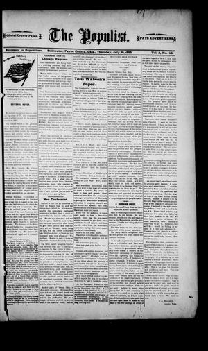 Primary view of The Populist. (Stillwater, Okla.), Vol. 3, No. 48, Ed. 1 Thursday, July 25, 1895