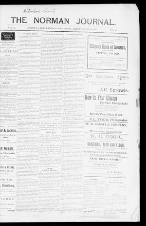 Primary view of The Norman Journal. (Norman, Okla.), Vol. 1, No. 16, Ed. 1 Friday, June 10, 1898