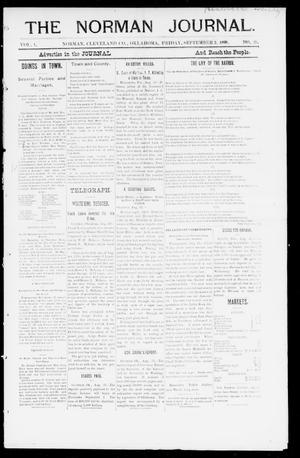 Primary view of object titled 'The Norman Journal. (Norman, Okla.), Vol. 1, No. 27, Ed. 1 Friday, September 2, 1898'.