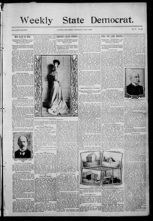 Primary view of object titled 'Weekly State Democrat (Lawton, Okla.), Vol. 5, No. 22, Ed. 2 Thursday, January 4, 1906'.