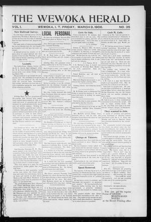 Primary view of object titled 'The Wewoka Herald (Wewoka, Indian Terr.), Vol. 1, No. 35, Ed. 1 Friday, March 9, 1906'.