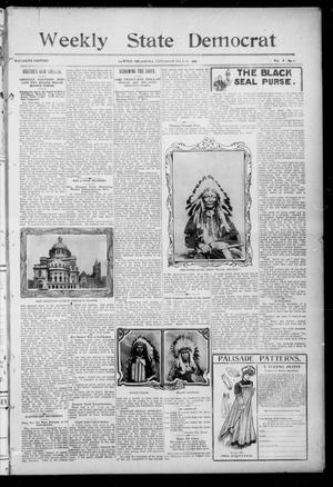 Primary view of object titled 'Weekly State Democrat (Lawton, Okla.), Vol. 5, No. 50, Ed. 2 Thursday, July 19, 1906'.