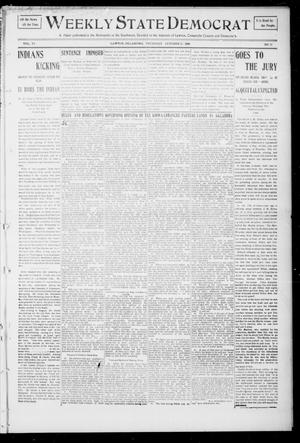 Primary view of object titled 'Weekly State Democrat (Lawton, Okla.), Vol. 6, No. 12, Ed. 1 Thursday, October 25, 1906'.