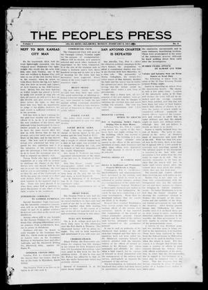 Primary view of object titled 'The Peoples Press (El Reno, Okla.), Vol. 1, No. 1, Ed. 1 Monday, February 6, 1911'.