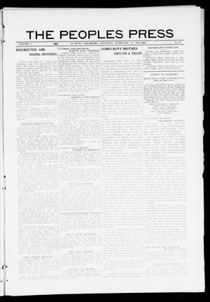 Primary view of object titled 'The Peoples Press (El Reno, Okla.), Vol. 1, No. 6, Ed. 1 Saturday, February 11, 1911'.