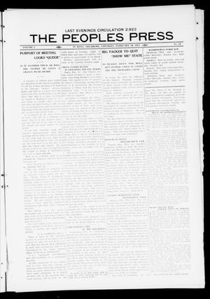 Primary view of object titled 'The Peoples Press (El Reno, Okla.), Vol. 1, No. 12, Ed. 1 Saturday, February 18, 1911'.