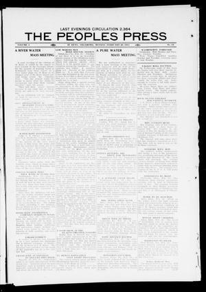 Primary view of The Peoples Press (El Reno, Okla.), Vol. 1, No. 13, Ed. 1 Monday, February 20, 1911