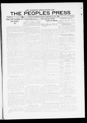 Primary view of object titled 'The Peoples Press (El Reno, Okla.), Vol. 1, No. 14, Ed. 1 Tuesday, February 21, 1911'.