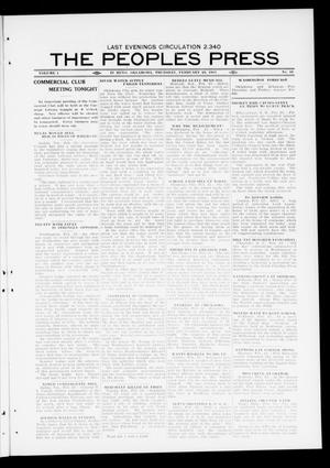 Primary view of object titled 'The Peoples Press (El Reno, Okla.), Vol. 1, No. 16, Ed. 1 Thursday, February 23, 1911'.