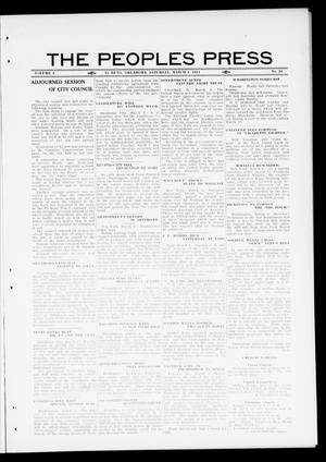 Primary view of object titled 'The Peoples Press (El Reno, Okla.), Vol. 1, No. 24, Ed. 1 Saturday, March 4, 1911'.