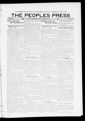 Primary view of object titled 'The Peoples Press (El Reno, Okla.), Vol. 1, No. 29, Ed. 1 Friday, March 10, 1911'.