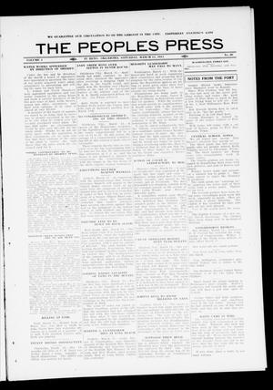 Primary view of object titled 'The Peoples Press (El Reno, Okla.), Vol. 1, No. 30, Ed. 1 Saturday, March 11, 1911'.
