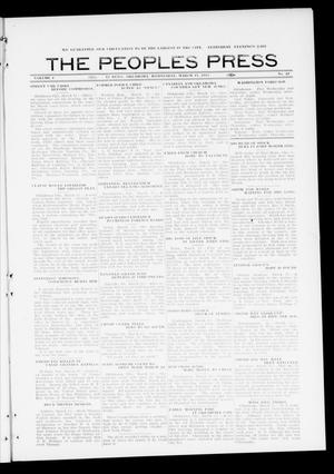 Primary view of object titled 'The Peoples Press (El Reno, Okla.), Vol. 1, No. 33, Ed. 1 Wednesday, March 15, 1911'.