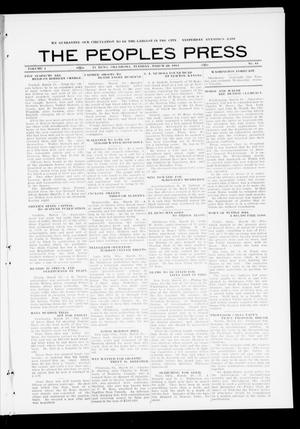 Primary view of object titled 'The Peoples Press (El Reno, Okla.), Vol. 1, No. 44, Ed. 1 Tuesday, March 28, 1911'.