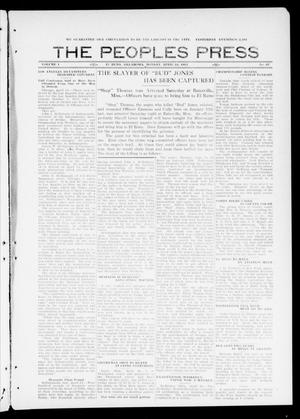 Primary view of object titled 'The Peoples Press (El Reno, Okla.), Vol. 1, No. 67, Ed. 1 Monday, April 24, 1911'.