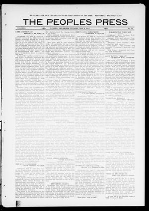 Primary view of object titled 'The Peoples Press (El Reno, Okla.), Vol. 1, No. 74, Ed. 1 Tuesday, May 2, 1911'.