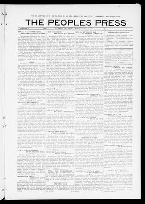 Primary view of object titled 'The Peoples Press (El Reno, Okla.), Vol. 1, No. 80, Ed. 1 Tuesday, May 9, 1911'.