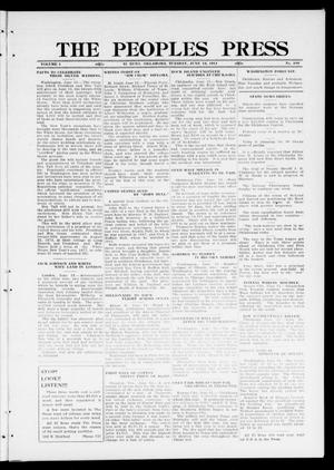 Primary view of object titled 'The Peoples Press (El Reno, Okla.), Vol. 1, No. 109, Ed. 1 Tuesday, June 13, 1911'.