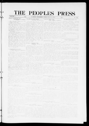 Primary view of object titled 'The Peoples Press (El Reno, Okla.), Vol. 1, No. 135, Ed. 1 Friday, July 14, 1911'.