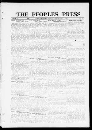 Primary view of object titled 'The Peoples Press (El Reno, Okla.), Vol. 1, No. 139, Ed. 1 Wednesday, July 19, 1911'.
