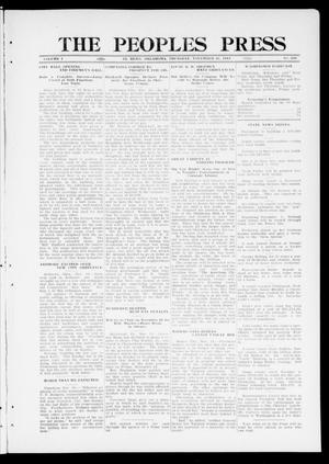 Primary view of object titled 'The Peoples Press (El Reno, Okla.), Vol. 1, No. 240, Ed. 1 Thursday, November 16, 1911'.