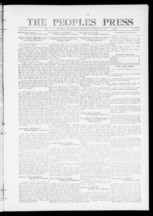 Primary view of object titled 'The Peoples Press (El Reno, Okla.), Vol. 1, No. 246, Ed. 1 Thursday, November 23, 1911'.
