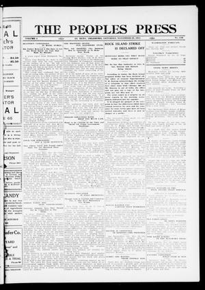 Primary view of object titled 'The Peoples Press (El Reno, Okla.), Vol. 1, No. 248, Ed. 1 Saturday, November 25, 1911'.