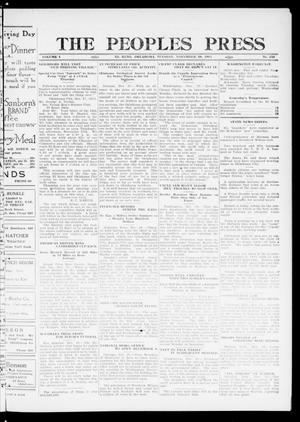 Primary view of object titled 'The Peoples Press (El Reno, Okla.), Vol. 1, No. 250, Ed. 1 Tuesday, November 28, 1911'.
