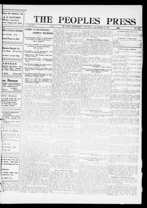 Primary view of object titled 'The Peoples Press (El Reno, Okla.), Vol. 1, No. 254, Ed. 1 Saturday, December 2, 1911'.