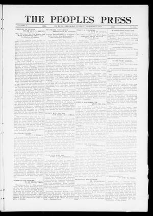 Primary view of object titled 'The Peoples Press (El Reno, Okla.), Vol. 1, No. 255, Ed. 1 Tuesday, December 5, 1911'.