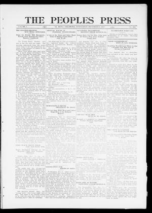 Primary view of object titled 'The Peoples Press (El Reno, Okla.), Vol. 1, No. 256, Ed. 1 Wednesday, December 6, 1911'.