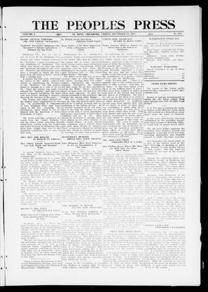 Primary view of object titled 'The Peoples Press (El Reno, Okla.), Vol. 1, No. 264, Ed. 1 Friday, December 15, 1911'.