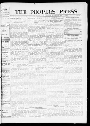 Primary view of object titled 'The Peoples Press (El Reno, Okla.), Vol. 1, No. 265, Ed. 1 Saturday, December 16, 1911'.