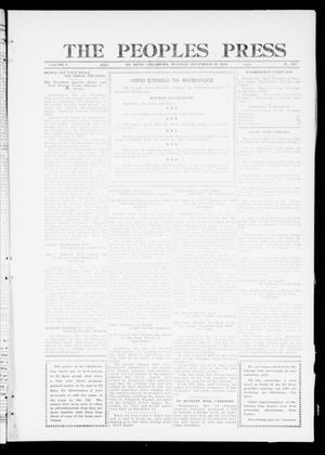 Primary view of object titled 'The Peoples Press (El Reno, Okla.), Vol. 1, No. 267, Ed. 1 Tuesday, December 19, 1911'.