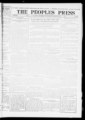 Primary view of object titled 'The Peoples Press (El Reno, Okla.), Vol. 1, No. 268, Ed. 1 Wednesday, December 20, 1911'.