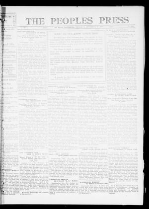 Primary view of object titled 'The Peoples Press (El Reno, Okla.), Vol. 1, No. 269, Ed. 1 Thursday, December 21, 1911'.