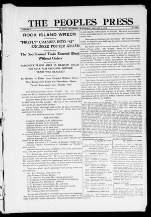 Primary view of The Peoples Press (El Reno, Okla.), Vol. 1, No. 278, Ed. 1 Wednesday, January 3, 1912